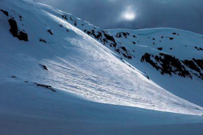 Fjellskråning snø